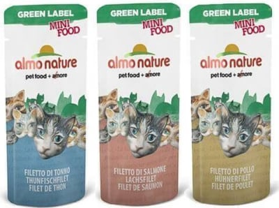 Snack  individuales Almo Nature Green Label Mini Food 3 gr. para gato