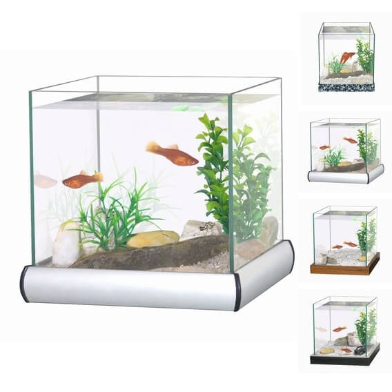 Aquarium kit with gravel and plants_0