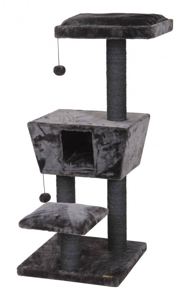 arbre chat new jersey 114cm gris anthracite arbre chat. Black Bedroom Furniture Sets. Home Design Ideas