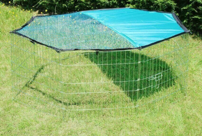 Metal enclosure OPI for small animals and rabbits