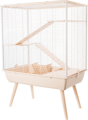 Cage NEO cosy beige pour lapin et grand rongeur