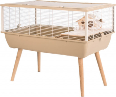 Cage NEO Nigha beige pour petit rongeur
