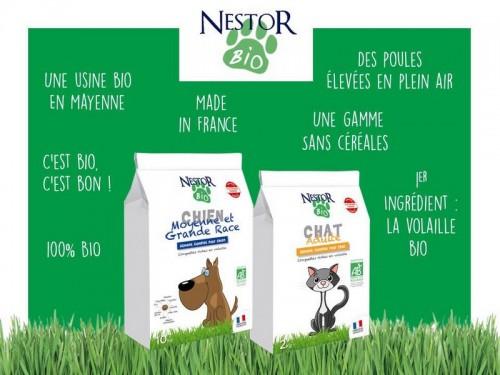Nestor Bio : une alimentation bio pour chien et chat 100% française !