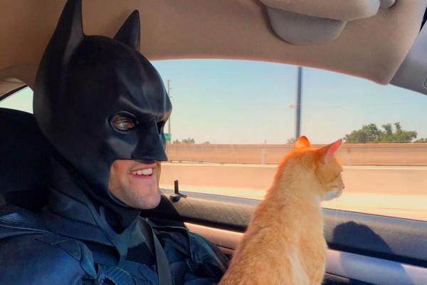 Batman4Paws : il parcourt les Etats-Unis pour réunir des animaux adoptés et leur nouvelle famille