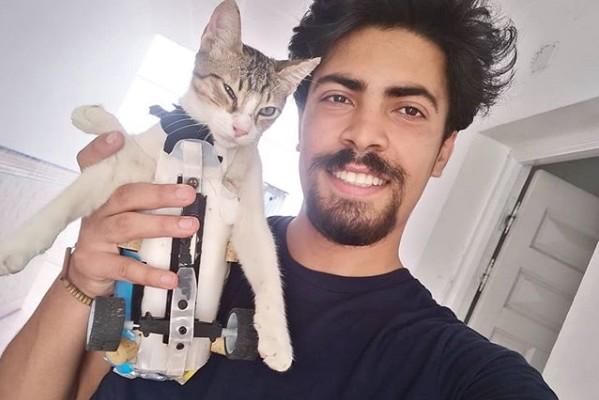 Ahmed Manai : Il transforme des objets de récupération en appareil pour animaux handicapés