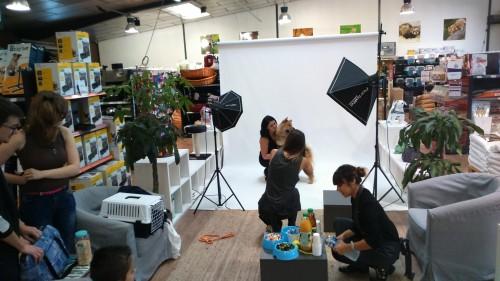 Séance photo avec nos clients dans notre showroom de Pau !
