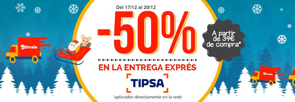 -50% en la entrega exprés Tipsa