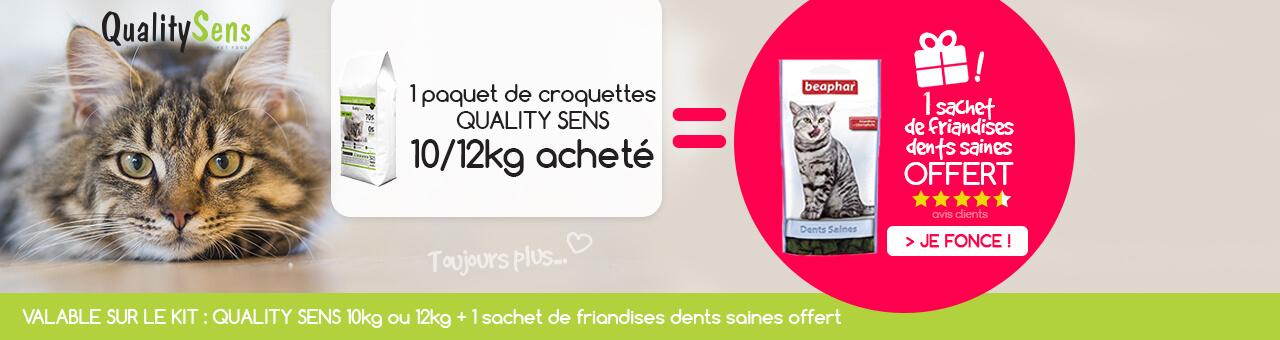 Kit Quality Sens : 1 paquet de 10/12kg + 1 sachet de friandises offert