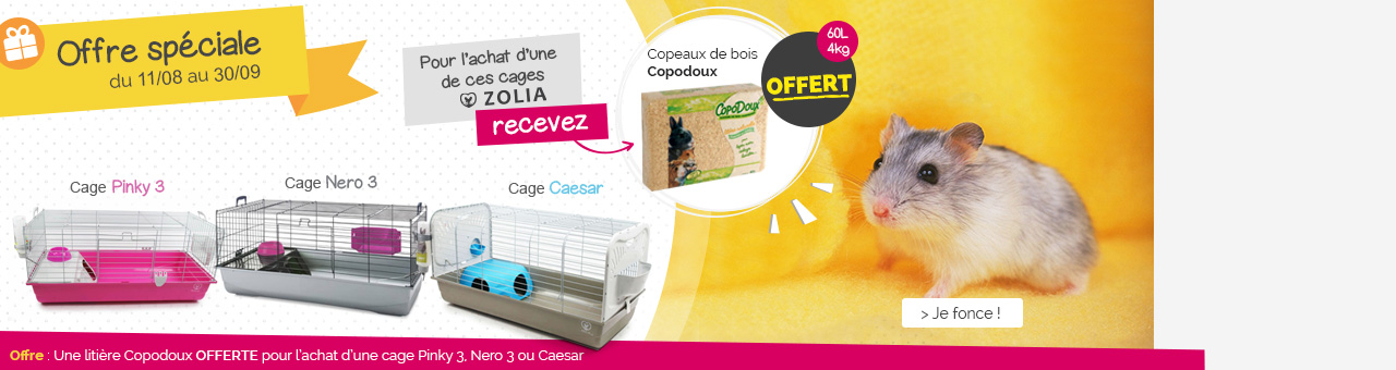 Offre copodoux = cage