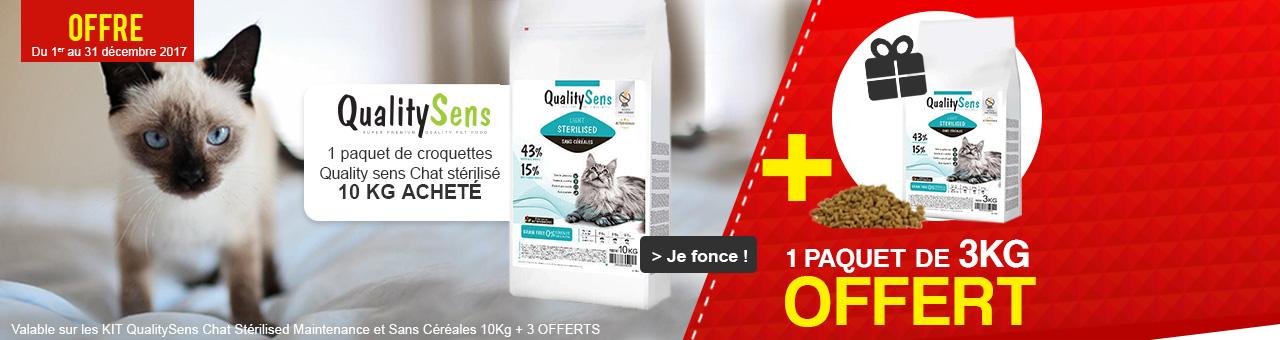 Kit Quality Sens : 1 paquet de 10kg+3kg OFFERTS !