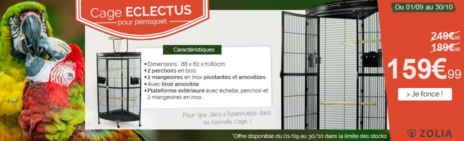 Cage pour perroquet ZOLIA ECLECTUS