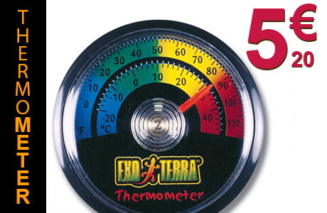 Analoges Thermometer Exo Terra