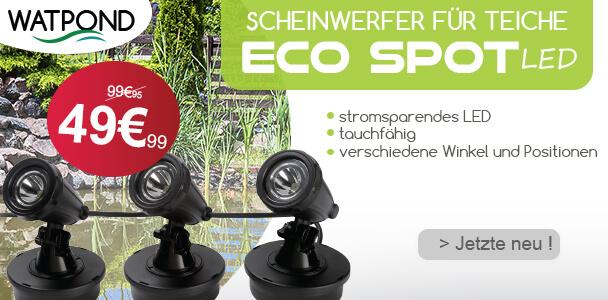 Scheinwerfer-Beleuchtung für Teiche ECOSPOT LED (x3)