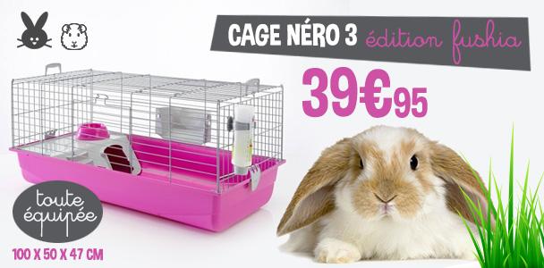 Cage Néro 3 Fushia