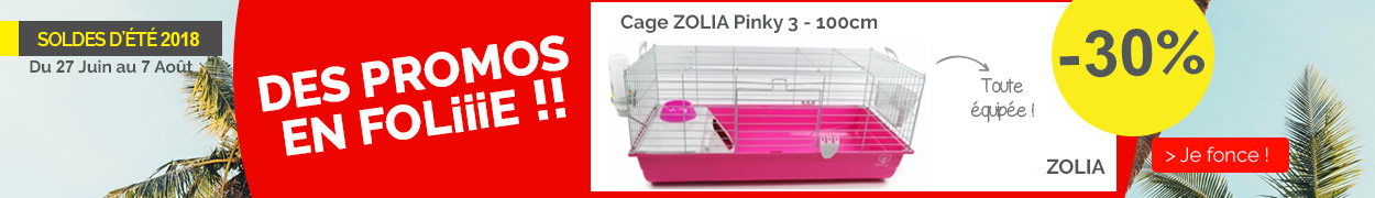 Cage ZOLIA Pinky 3 100cm édition Fuchsia