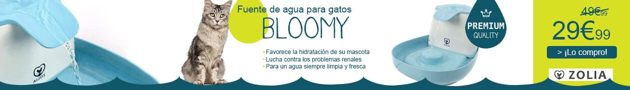 Fuente de agua Bloomy para gatos