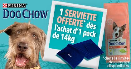 Serviette Dog chow OFFERTE
