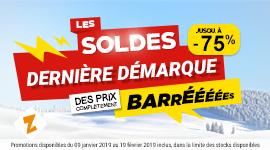 Soldes d'Hiver 2019 : DERNIÈRE DÉMARQUE
