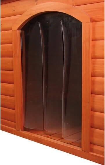 Porte plastique pour niche à toit plat pour chien