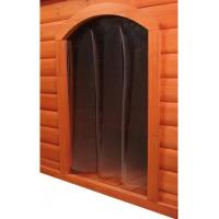 Porte plastique pour niche avec pignon pour chien