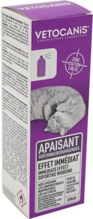 Spray Apaisant Anti Stress pour Chat Vetocanis
