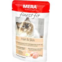 Pâtée MERA Finest Fit à la volaille pour chat avec problèmes de pelage et de peau