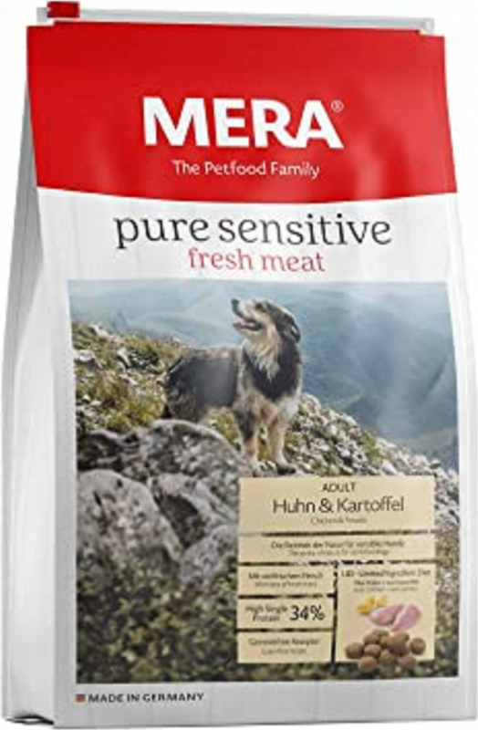 MERA Pure Sensitive au poulet et pommes de terre pour chien adulte de moyenne et grande taille