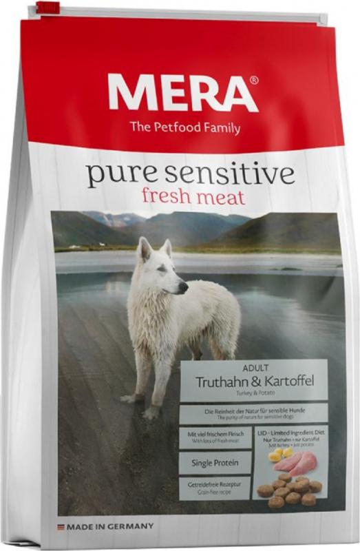 MERA Pure Sensitive à la dinde et pommes de terre pour chien adulte de moyenne et grande taille