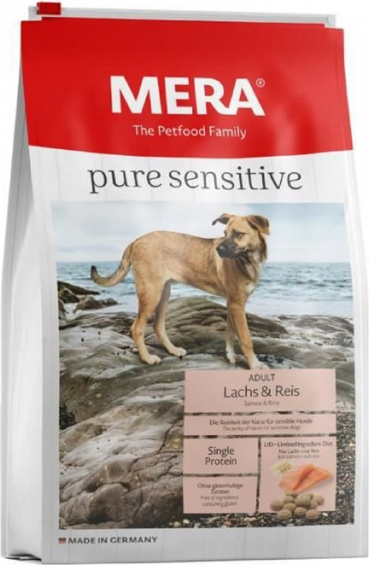 MERA Pure Sensitive au saumon et riz pour chien adulte de moyenne et grande taille