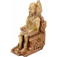 El egipcio Tutankamón en su trono