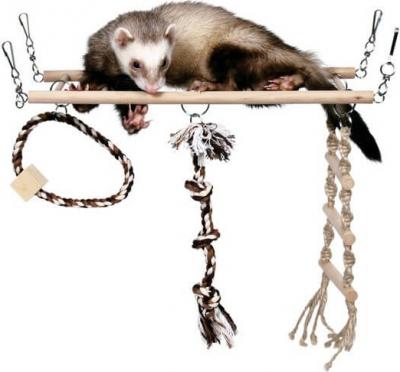 Echelle suspendue avec cordes de jeux