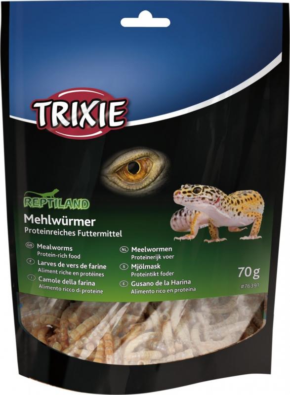 Larves de vers de farine séchées pour reptiles REPTILAND