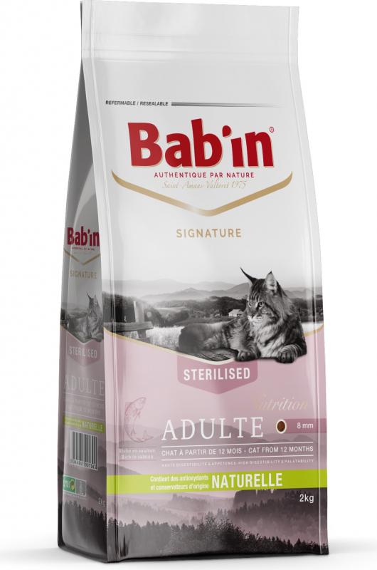 BAB'IN Signature Adulte au saumon pour chat adulte