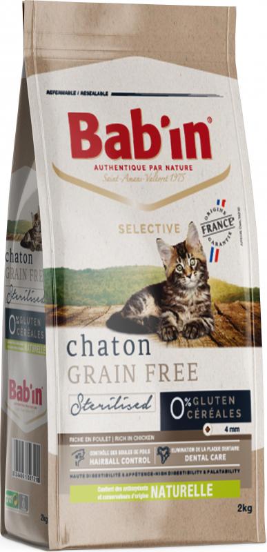 BAB'IN Selective Chaton Grain free au poulet sans céréales pour chaton
