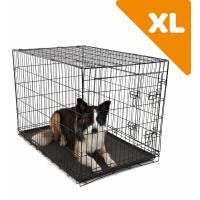 Cage de transport en métal noire pour chien avec poignée Zolia Yala - Plusieurs tailles