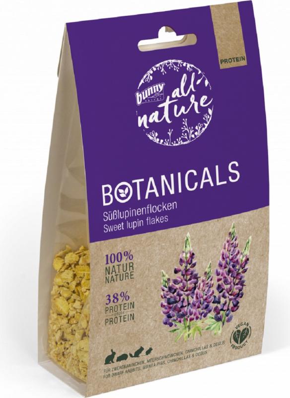BUNNY All Nature Botanicals Snacks Ergänzungsfuttermittel mit süßen Lupinenflocken Nagetiere