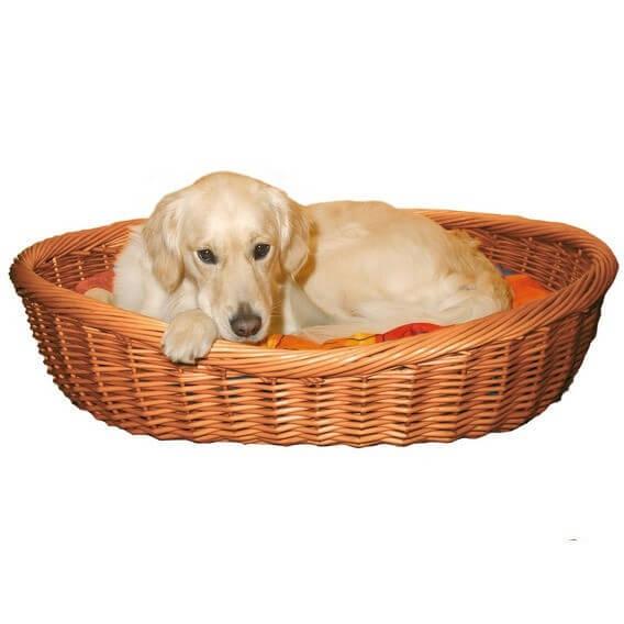 Corbeille osier pour chien