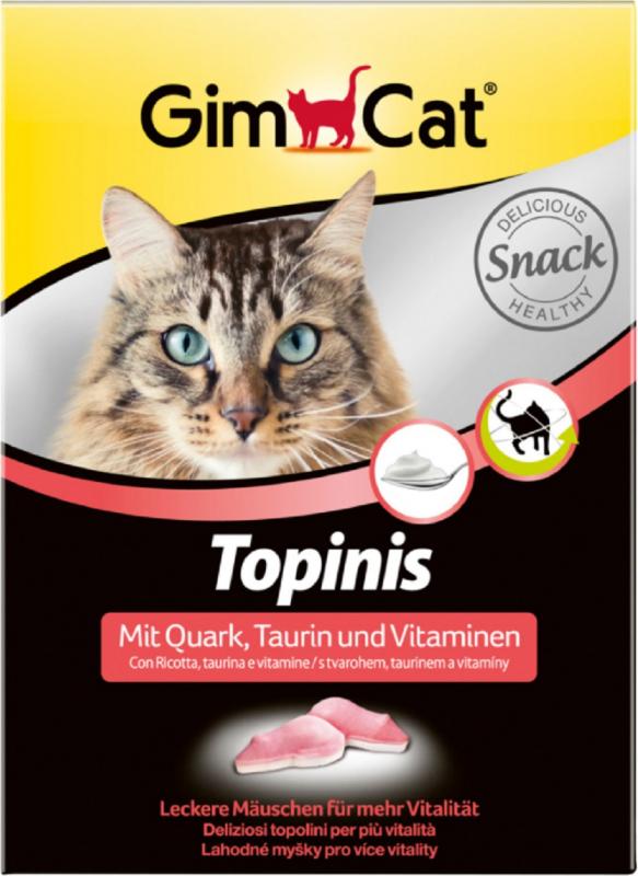 GIMCAT Topinis Guloseimas de Queijo, Taurina & Vitamina para Gatos