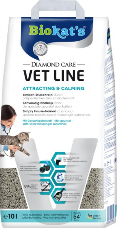 Biokat's Diamond Care Vet Line Attracting & Calming Litière pour chat