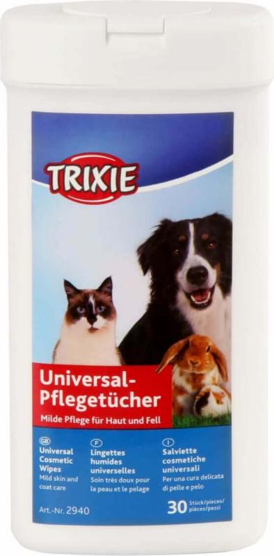 Lingettes cosmétiques animaux universelles