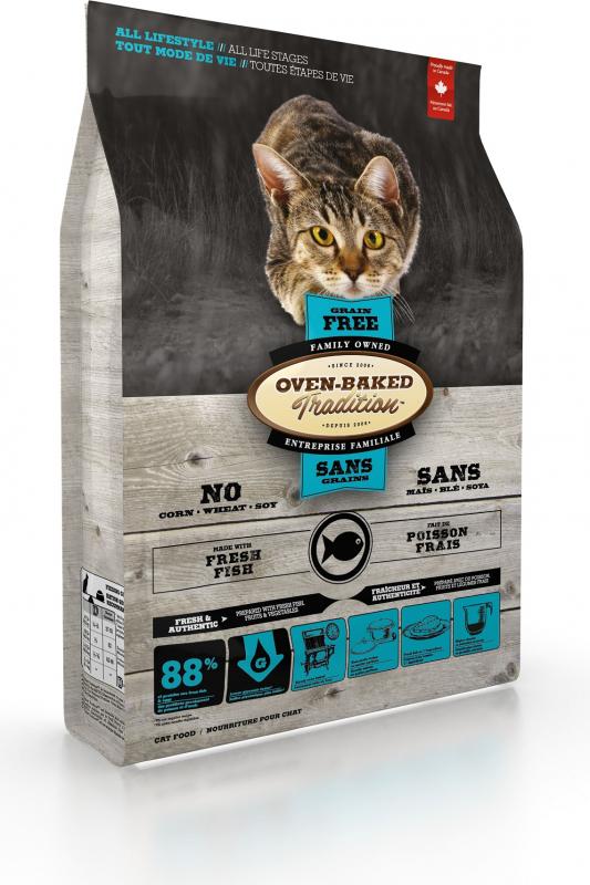 OVEN-BAKED TRADITION sans céréales au poisson pour chat