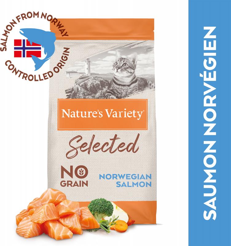 NATURE'S VARIETY Selected Gatos Adultos Esterilizados con salmón noruego sin espinas y sin cereales