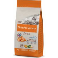 NATURE'S VARIETY Selected Gatto adulto sterilizzato con salmone norvegese senza ossa e senza cereali