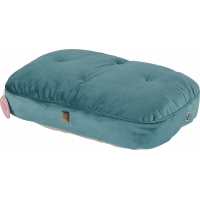 Coussin déhoussable chesterfield vert paon Chambord pour chat