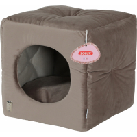 Cube taupe chesterfield Chambord pour chat