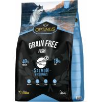 OPTIMUS Adult Grain Free Fish Sans céréales au poisson pour Chien