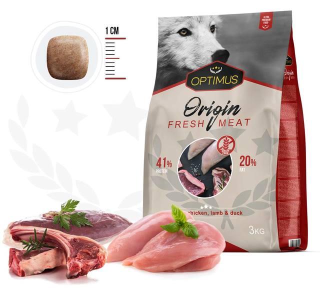 sachet optimus origin fresh meat pour chien
