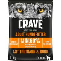 CRAVE sans céréales à la dinde et au poulet pour chien adulte