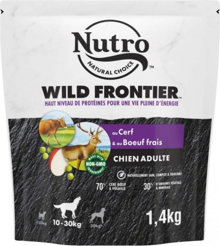 NUTRO Wild Frontier au cerf & bœuf pour chien adulte de moyenne et grande taille