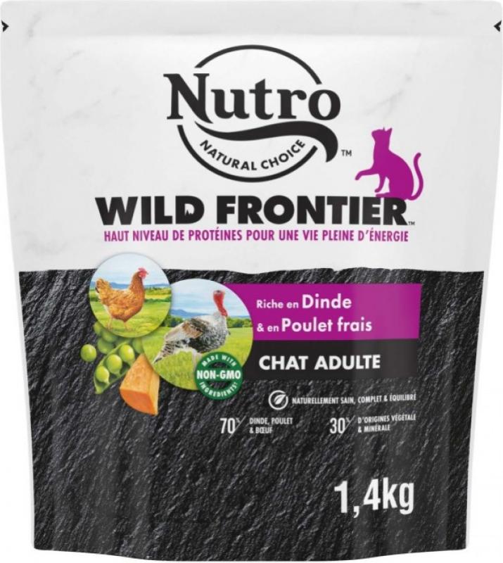 NUTRO Wild Frontier à la dinde & poulet pour chat adulte